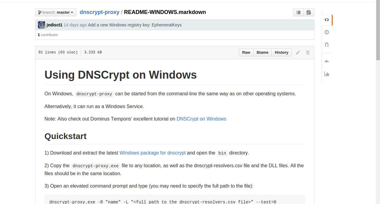 Instalación de DNScrypt en Windows