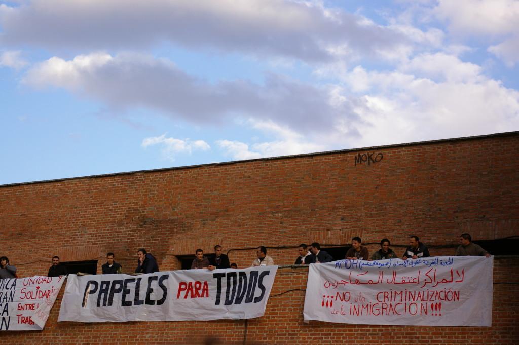Protesta contra los Centros de Internamiento de Extranjeros. Crédito: Wikimedia