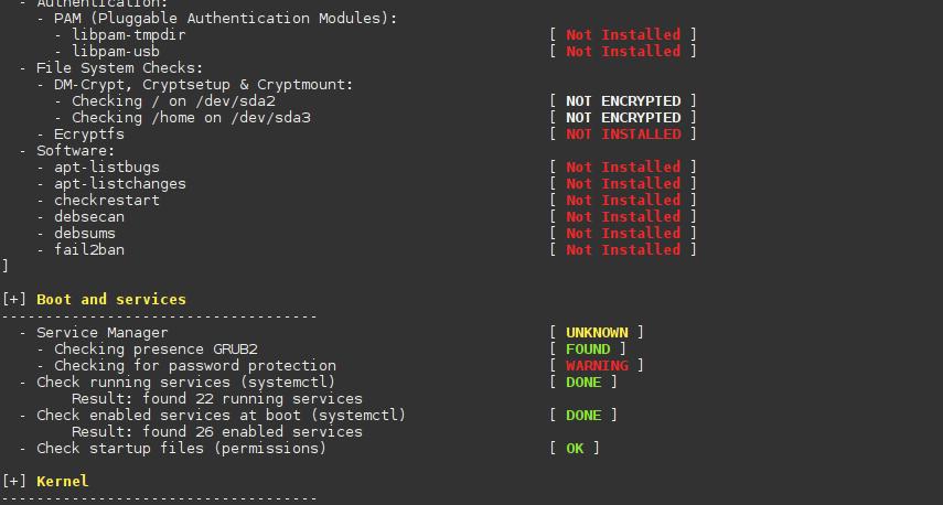 Auditoría de seguridad sencilla para Semplice-Linux