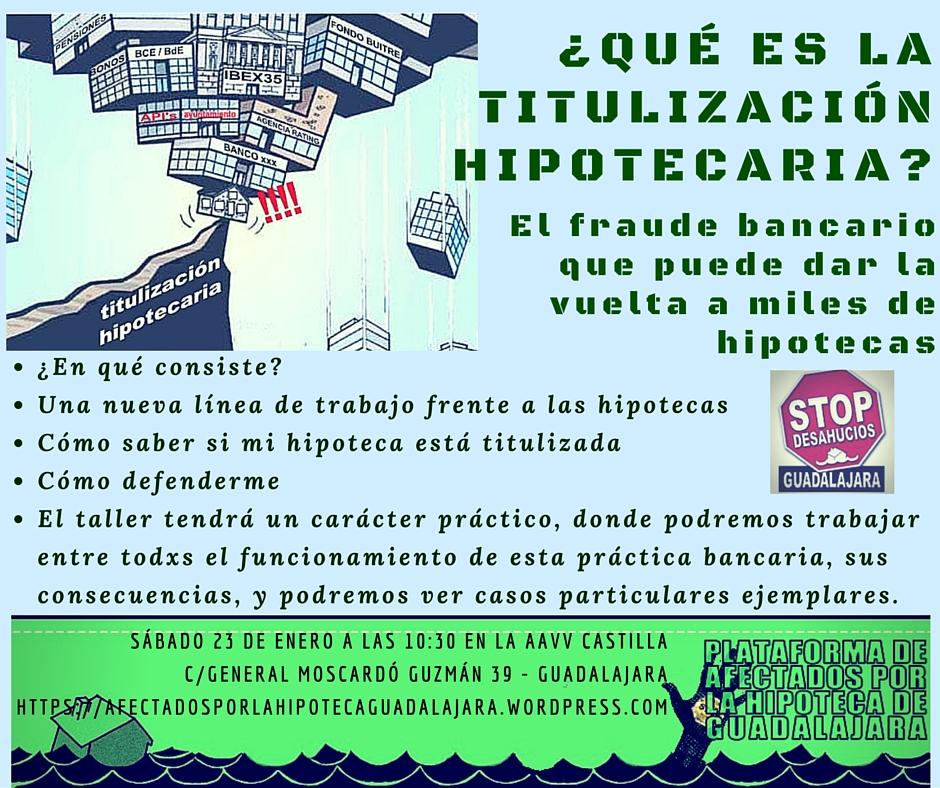Taller de titulización hipotecaria con la PAH de Guadalajara