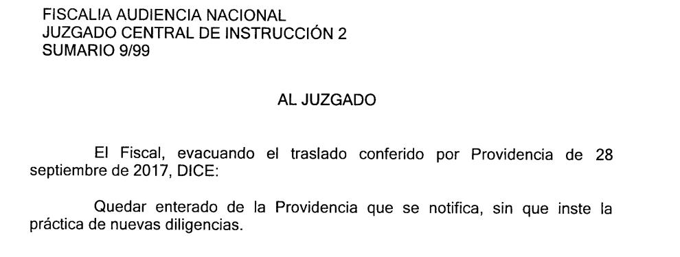 La Fiscalía no consigue reunir pruebas contra el Camarada Arenas por la bomba en PREVIASA